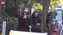 Bradley Cooper and Irina Shayk bundle up for a stroll with Lea