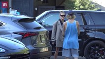 Justin Bieber & Hailey Baldwin leave Ca'Del Sole together in LA