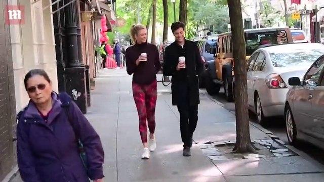 Newlyweds Karlie Kloss & Joshua Kushner grab coffee together