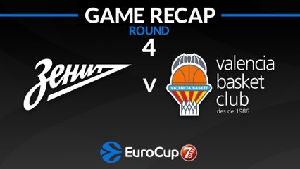 7Days EuroCup Highlights Regular Season, Round 4: Zenit 104-93 Valencia
