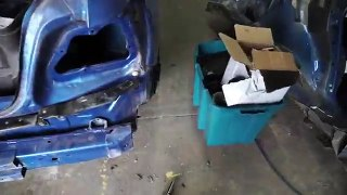 CUTTING UP THE WRECKED WRX Rebuild Pt 5
