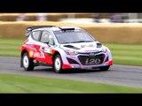 Dani Sordo donut and drift in WRC Hyundai - Festival of Speed