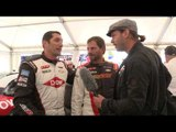 NASCAR Hillclimb! Papis and Earnhardt on track and interview at Goodwood