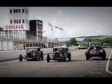 Steel Willys Coupe, Ford pick-up and Ford five-window coupe - Hot Rods on track at Goodwood