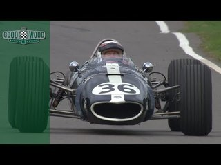 Sir Jackie Stewart drives Dan Gurney's Eagle at Revival