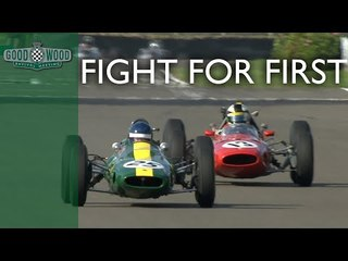 Ferrari and Lotus's exhilarating battle for 1st at Revival