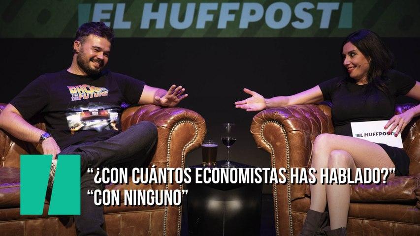 """""""Con cuántos economistas has hablado para afirmar que la independencia es viable?"""" """"Con ninguno"""""""