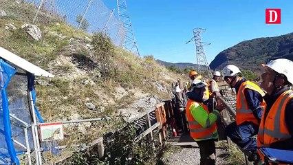Les pompiers en manoeuvre à Sabart