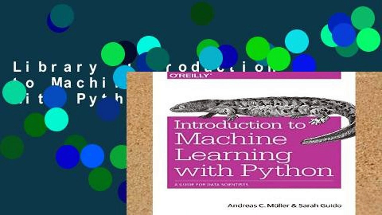 Library Introduction to Machine Learning with Python