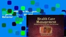[P.D.F] Health Care Management: Organization, Design, and Behavior [P.D.F]