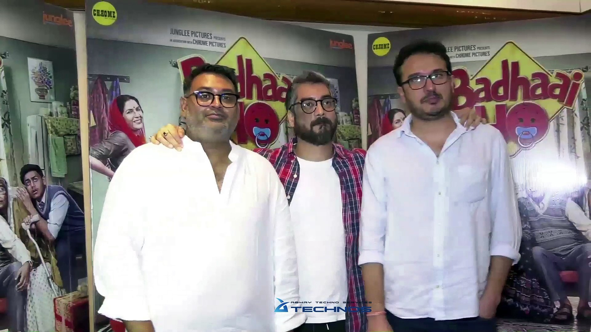 UNCUT - Badhaai Ho Success Group Interview   Amit Sharma, Shantanu Srivastava, Akshat Ghildial