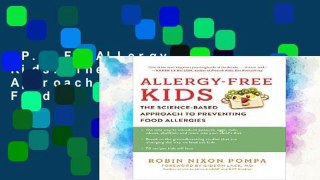 P D F Allergy Free Kids The Science Based Approac