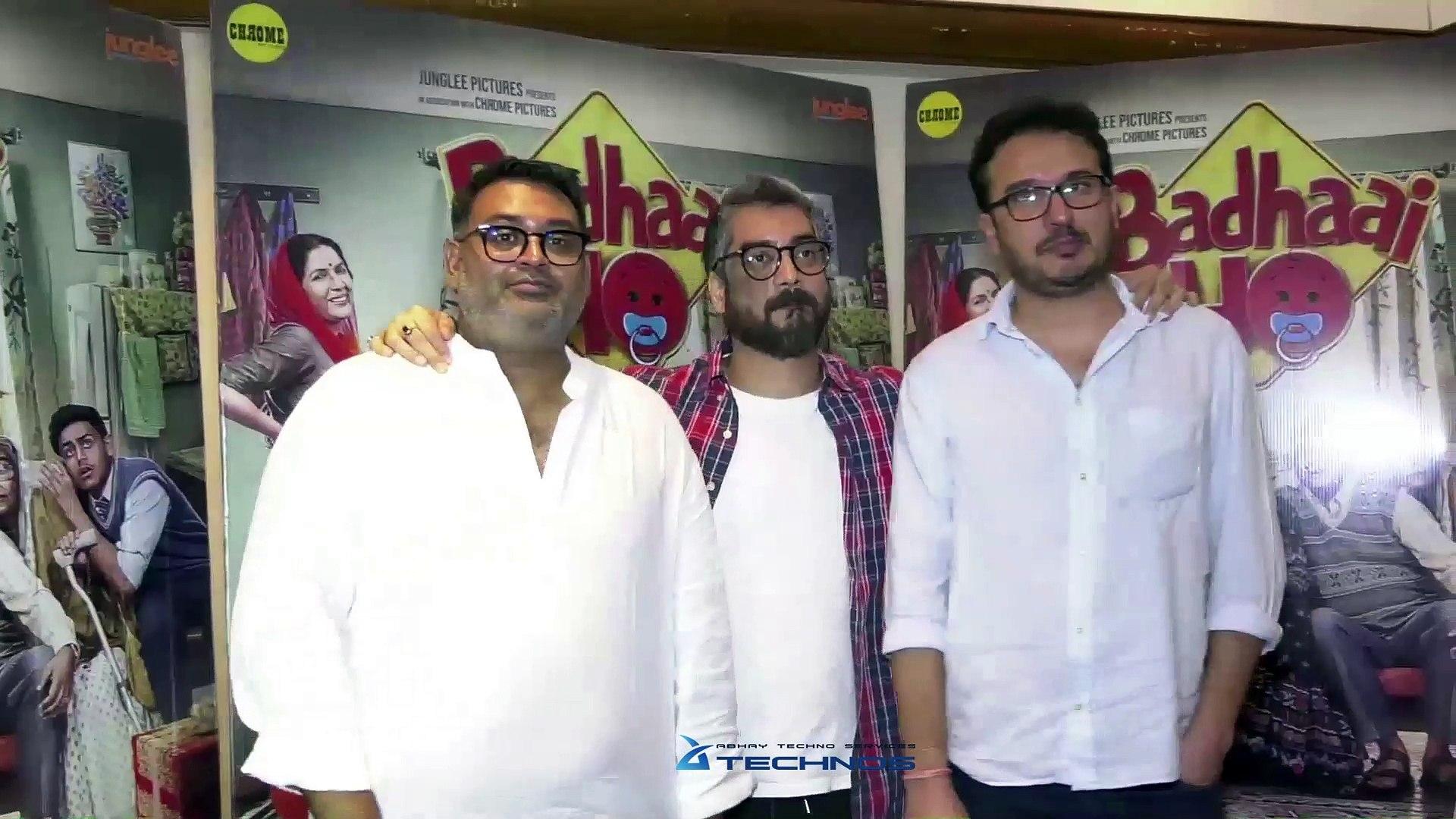 Interview Of Amit Ravindranath Sharma, Shantanu & Akshat For Success Of Badhaai Ho