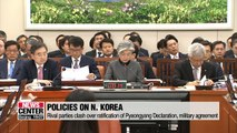 Rival parties debate over President's ratification of Pyongyang declaration, military agreement