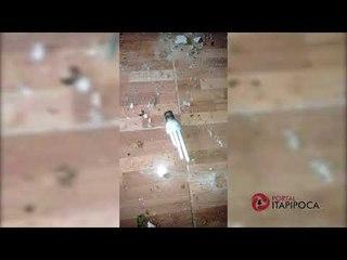 Raio atinge casa no bairro Maranhão em Itapipoca