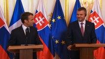 Déclaration conjointe du Président de la République, Emmanuel Macron, et de Peter Pellegrini, Premier ministre Slovaque