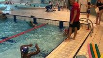 Dernières longueurs pour ces jeunes qui ont bénéficié de cours de natation grâce au Secours Populaire