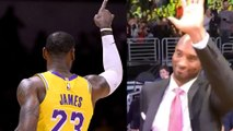 Kobe Bryant Puts Pressure On Lebron James To Win! Shows Up Courtside to Watch Lakers