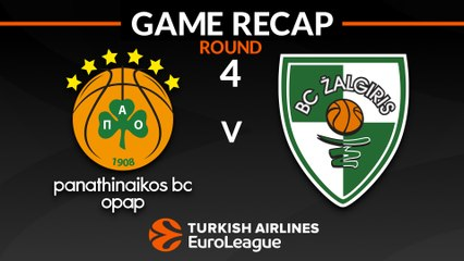 EuroLeague 2018-19 Highlights Regular Season Round 4 video: Panathinaikos 83-87 Zalgiris