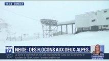 La neige est arrivée à la station des Deux-Alpes