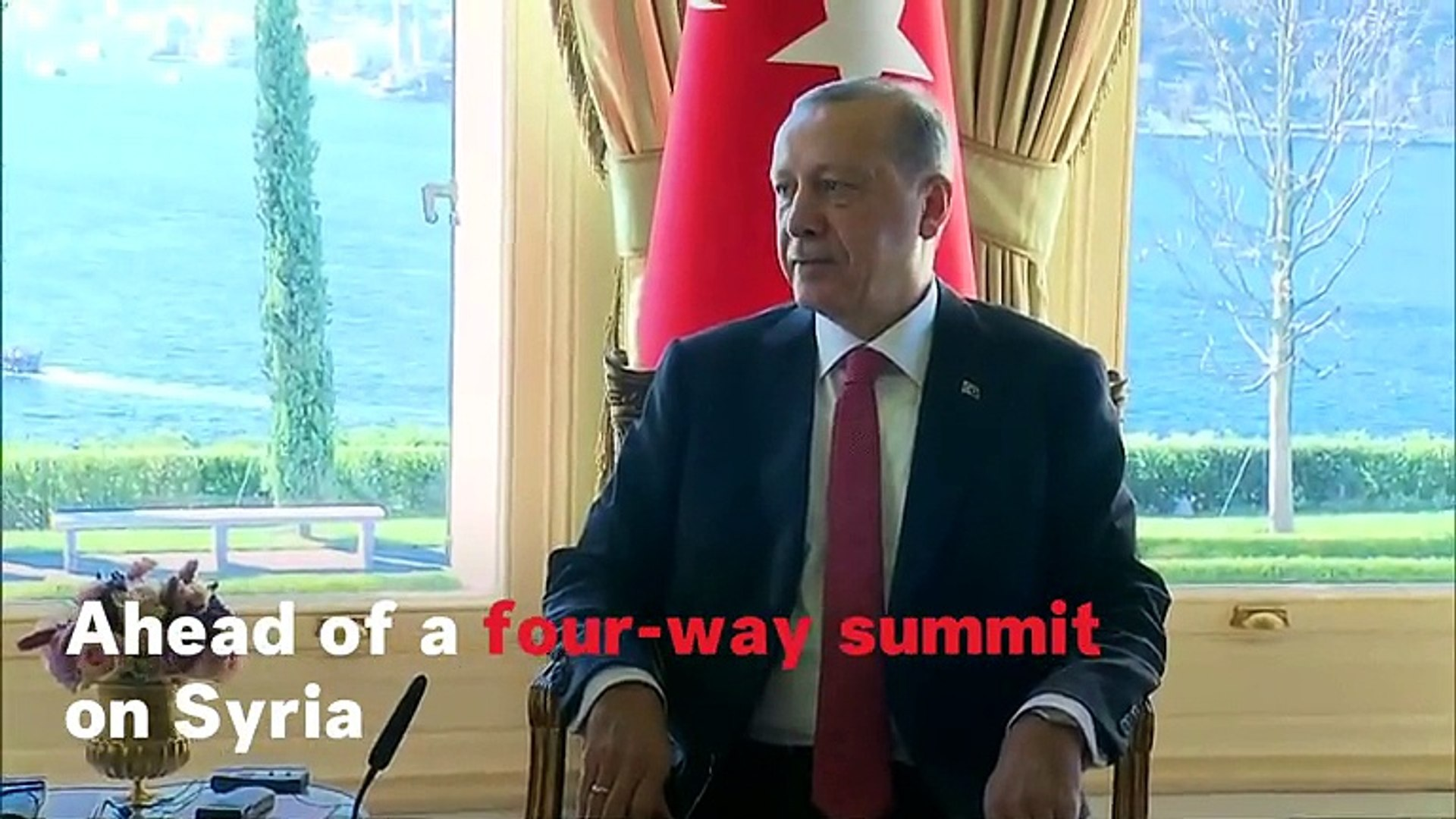 Vladimir Putin Meets With Tayyip Erdogan