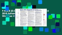 F.R.E.E [D.O.W.N.L.O.A.D] Microsoft Word 2016 Advanced Quick Reference Guide - Windows Version