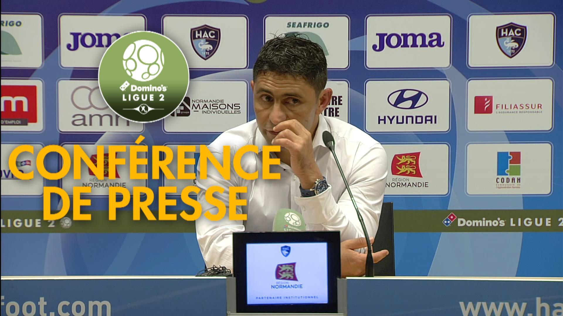 Conférence de presse Havre AC – RC Lens ( 2-1 )  / 2018-19