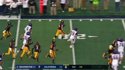 Cal's Evan Weaver Returns Interception for Touchdown to Help Upset No. 10 Washington