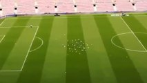 Quand la Spidercam du Camp Nou chasse les pigeons du terrain