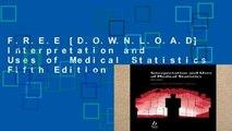 F.R.E.E [D.O.W.N.L.O.A.D] Interpretation and Uses of Medical Statistics Fifth Edition [P.D.F]