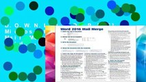 D.O.W.N.L.O.A.D [P.D.F] Microsoft Word 2016 Mail Merge Quick Reference Guide - Windows Version
