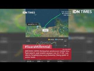 Jejak Terakhir Pesawat Lion Air JT610 Menurut Flightradar24