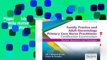 Popular Adult-Gerontology and Family Nurse Practitioner Certification Examination, 5e