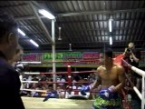 Andy (Tiger Muay Thai) wins Muay Thai fight over 5-rounds
