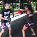 Anissa Meksen padwork @ Tiger Muay Thai