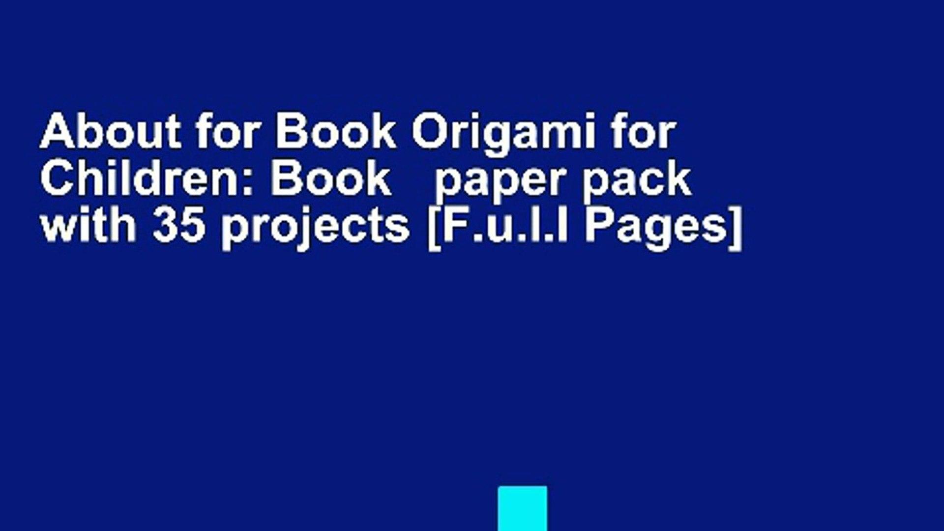 Origami for Kids – Creabooks – Illustrated books for international ... | 1080x1920