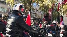Motosiklet kulübü konvoyu 15 Temmuz Şehitler Köprüsü'nden geçti - İSTANBUL
