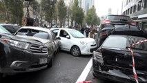 Acidente dramático em Kiev destrói 19 carros