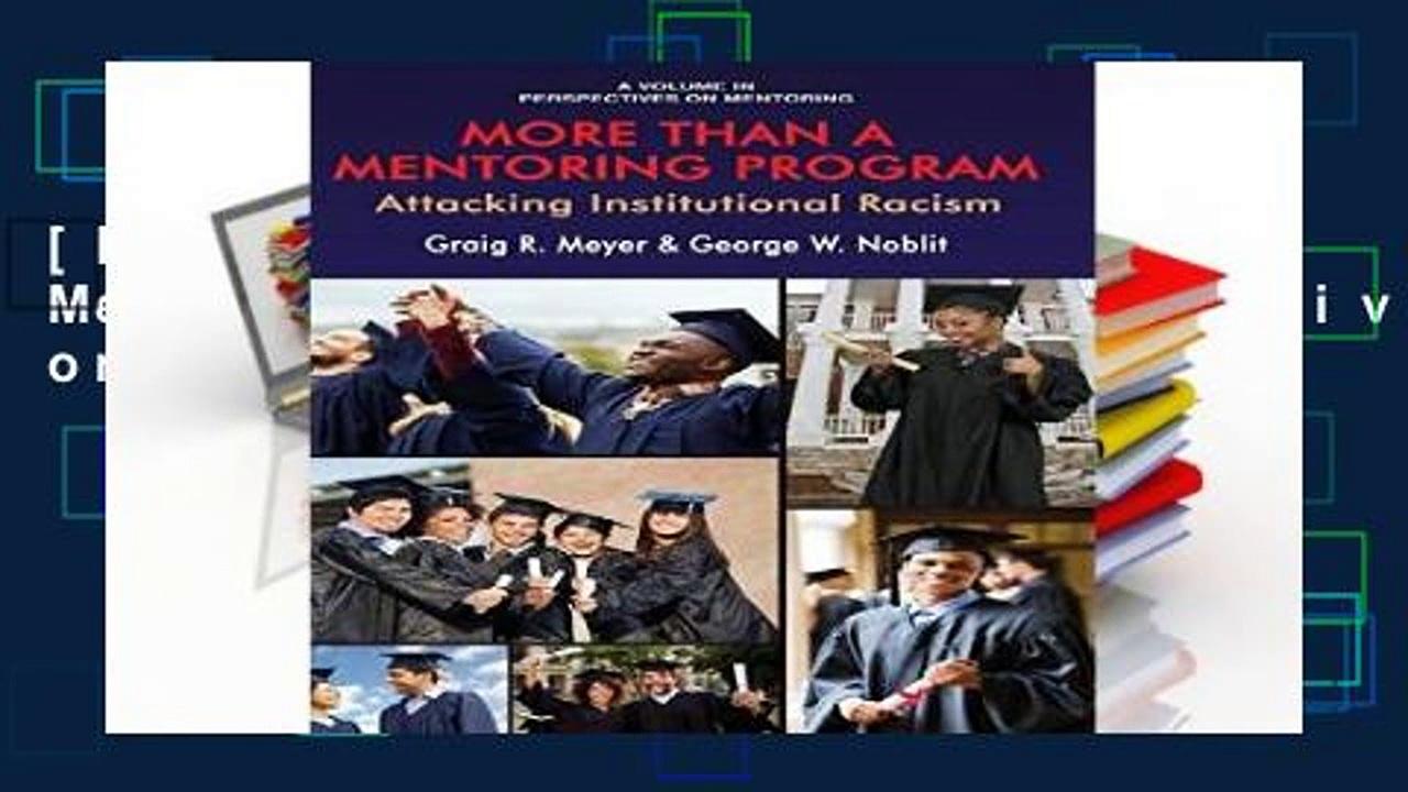 [P.D.F] More Than a Mentoring Program (Perspectives on Mentoring) [E.B.O.O.K]