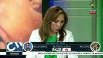 Lidera Bolsonaro balotaje en Brasil con 55.70% de votos; Haddad 44.30%