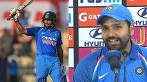 India VS West Indies 4th ODI:Rohit Sharma hails Ambati Rayudu for supportive century   वनइंडिया हिंदी