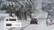Automobilistes bloqués, foyers sans électricité, routes impraticables : les images de la France enneigée