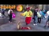 Amazing Real Magic Illusion by Genie Street Artist Performer