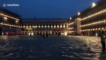 Venice resident films St. Mark's Square submerged in flood waters