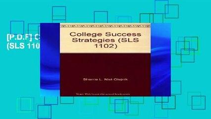 [P.D.F] College Success Strategies (SLS 1102) [E.P.U.B]