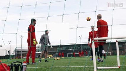 Alisson, Mignolet & Kelleher in training
