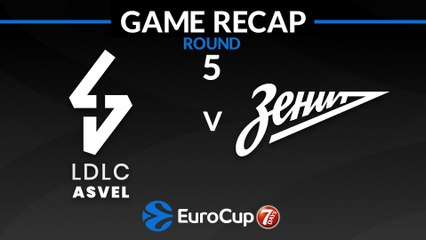 7Days EuroCup Highlights Regular Season, Round 5: ASVEL 89-68 Zenit