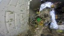Destruction d'un nid de guêpe géant dans une maison... Impressionnant