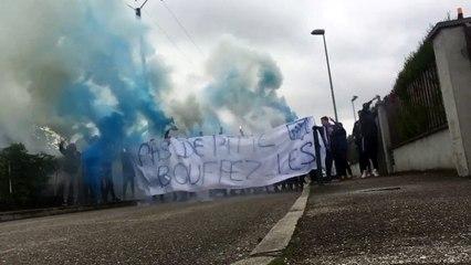 Coupe de France contre Lyon La Duchere arrivée de notre Equipe