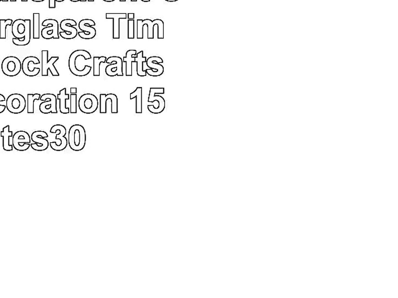 MINGZE Transparent Crystal Hourglass Timer Sand Clock Crafts Glass Decoration 15